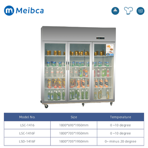 Commercial Glass Front Door Refrigerator For Kitchen